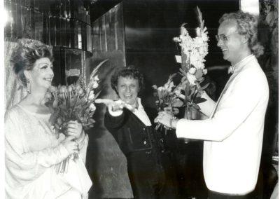 LH, Merry Lou och Peter Kleinwichs vid appladtacket