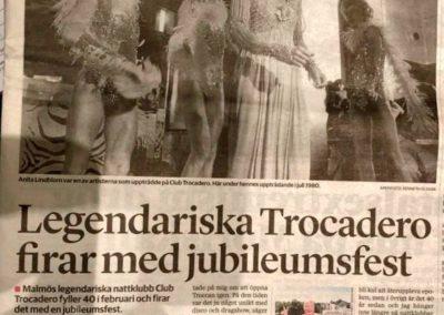 Sydsvenskan 16 jan 2019, nattklubbshistoria om Troccan