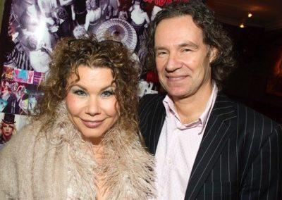 Sångerskan Eva Almér med sin älskade make Lars, Foto Claes Hall
