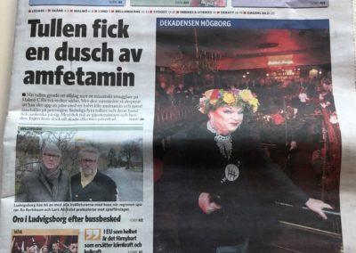 Skånska Dagbladet 11 febr 2019, forsta sidan