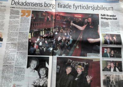 Skånska Dagbladet 11 febr 2019, uppslag med reportage